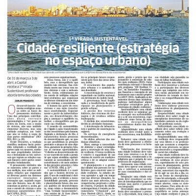 Cidade resiliente (estratégia no espaço urbano)