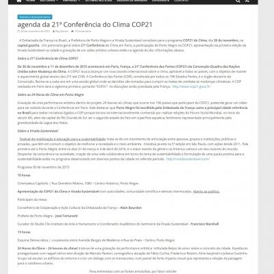 Agenda da 21ª Conferência do Clima COP21