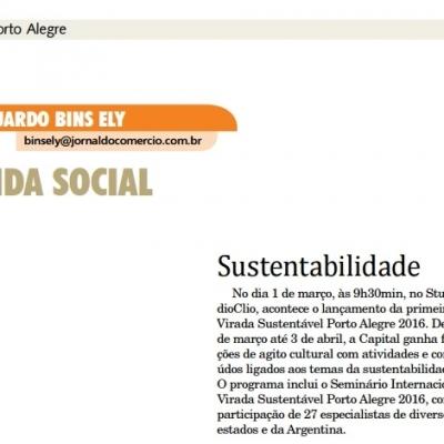 Sustentabilidade – Lançamento da primeira virada sustentável Porto Alegre