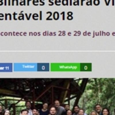 Parques do Mindu e Ponte dos Bilhares sediarão Virada Sustentável 2018