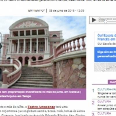 Teatro Amazonas divulga programação para o mês de julho em Manaus