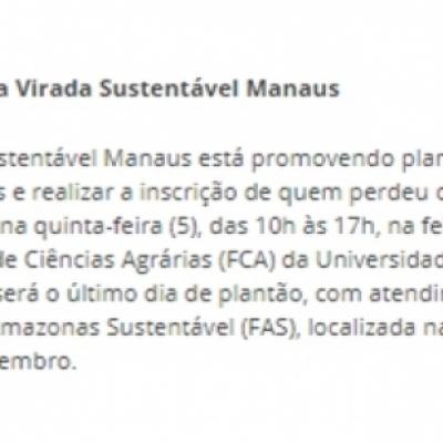 Plantões da Virada Sustentável Manaus