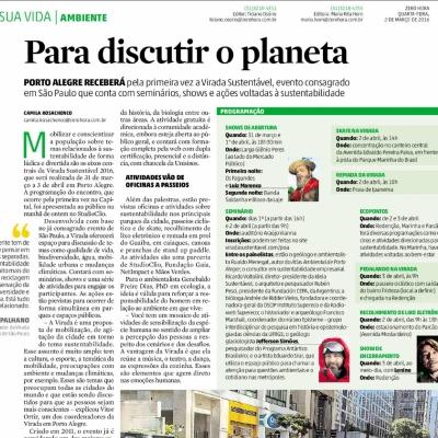Para discutir o planeta – Primeira Virada Sustentável em Porto Alegre