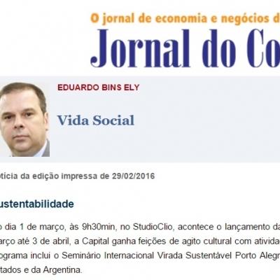 Jornal do Comércio – Lançamento da primeira virada sustentável Porto Alegre