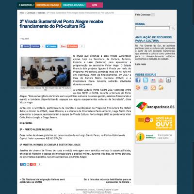 2ª Virada Sustentável Porto Alegre recebe financiamento do Pró-cultura RS