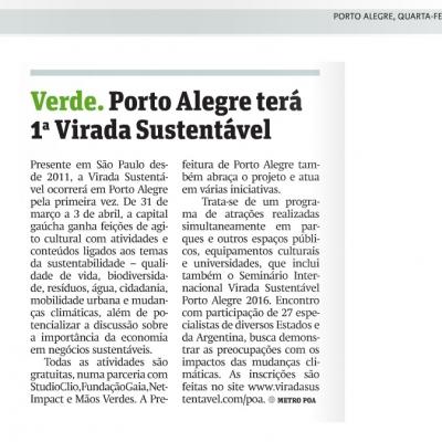 Porto Alegre terá 1ª Virada Sustentável