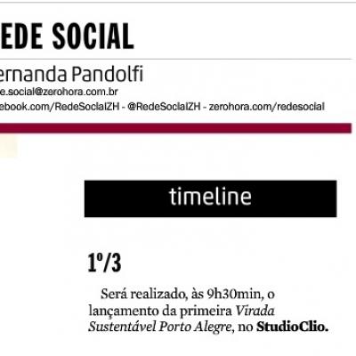 Rede Social - Timeline - Primeira Virada Sustentável Porto Alegre