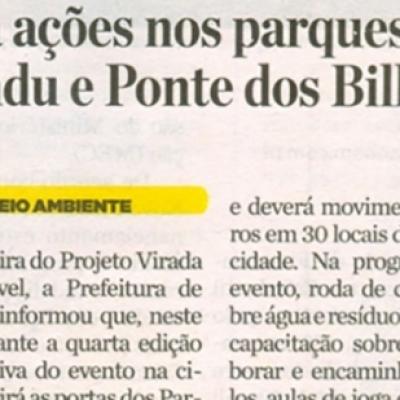 Virada Sustentável 2018 terá ações nos parques do Mindu e Ponte dos Bilhares