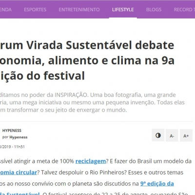 Fórum Virada Sustentável debate economia, alimento e clima na 9a edição do festival