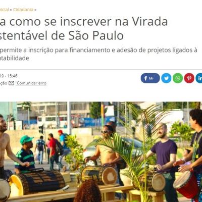 Veja como se inscrever na Virada Sustentável de São Paulo