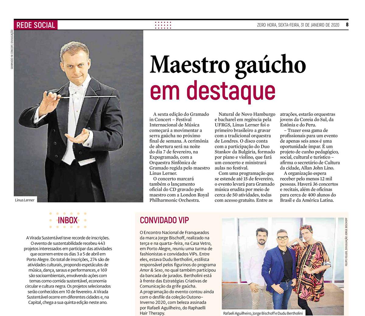 Maestro Gaúcho em destaque