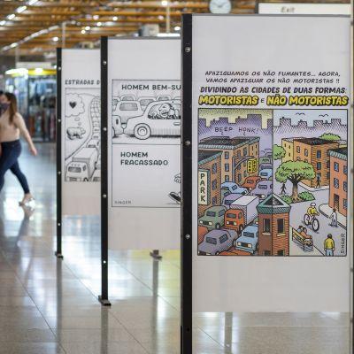 Andy Singer | Exposição Metrô estação Tatuapé -  Sem Saída
