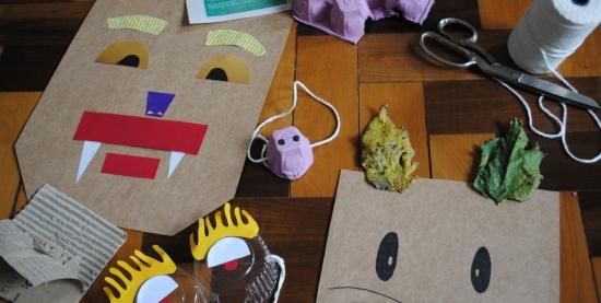 Oficina Corta uma, dobra duas  Oficina de máscaras e adereços em papel
