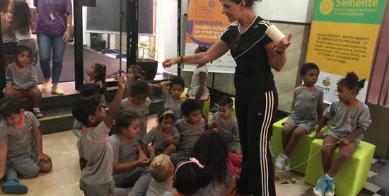Espaço de interação para as crianças