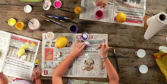 Oficina de Pinturas com Crianças no Parque Sumaúma