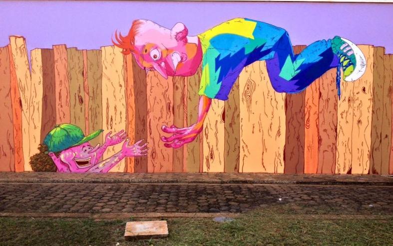 Intervenção artística na Fábrica de Cultura do Capão Redondo