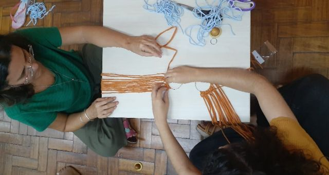 Oficina Criativa de Macramê com Fios de Malha